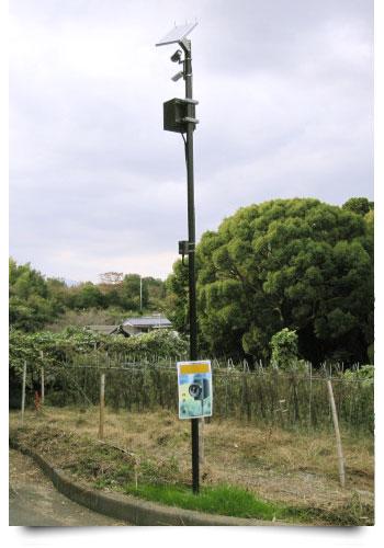 ソーラー式監視カメラ施工例